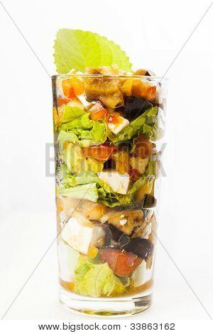 Verrine eggplant salad