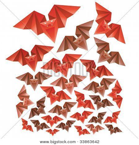 Halloween's origami bats
