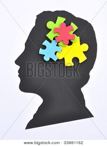 Puzzle im Auge
