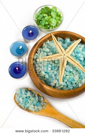 Seasalt And Aromatic Candles For Spa