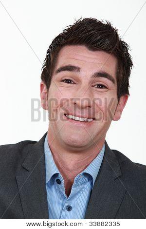 Laughing businessman
