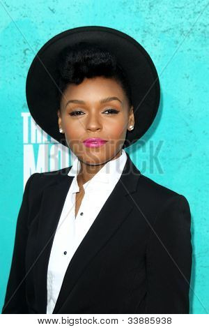 LOS ANGELES - JUN 3:  Janelle Monae arriving at the 2012 MTV Movie Awards at Gibson Ampitheater on June 3, 2012 in Los Angeles, CA