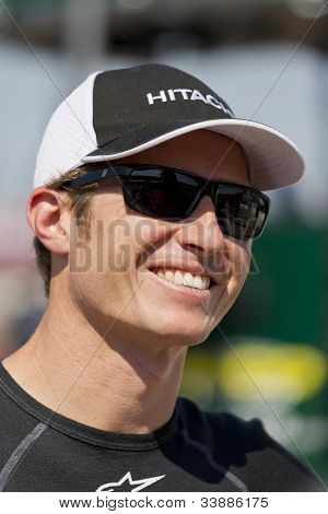 Ft WORTH, TX - JUN 08:  Ryan Briscoe (2) prepares to qualify for the Firestone 550 race at the Texas Motor Speedway in Fort Worth, TX on June 08, 2012.