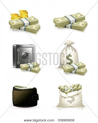 Paper money set, bitmap copy
