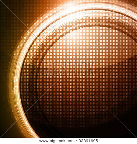 Orange-brown technology lines on metal pattern design - vector background