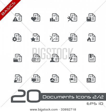 Documents Icons - 1 of 2 // Basics