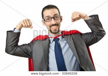 Superman auf dem weißen Hintergrund isoliert