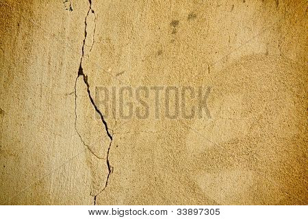 old concrete wall with cracked