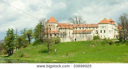 Svirzh Castle.  Ukraine.  It was originally built by the Svirzski noble family in the 15th century.