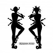 image of jive  - Vintage fool silhouettes - JPG