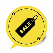 Black Price Tag With An Inscription Sale Icon Isolated On White Background. Badge For Price. Promo T poster
