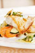 stock photo of pangasius  - fish with vegetables - JPG