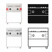 Vector Design Of Stove And Oven Logo. Graphic Of Stove And Kitchenware Vector Icon For Stock. poster