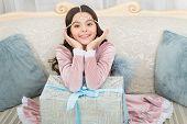 Making Holidays Bright. Happy Child Got Present Box. Happy Holidays. Christmas Holidays. Birthday An poster