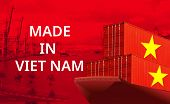 Concept Image Of Made In Vietnam, Economy Idea, poster