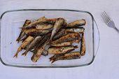 Freshly Grilled Mediterranean Sardines, Anchovy, Mediterranean Healthy Cuisine, Omega 3/ Healthy Eat poster