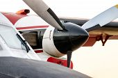 Propeller Blades Of An Old Vintage Airplane Closeup poster