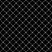 Stripe Grunge Plaid Halftone Black And White Seamless Texture. Striped Background. Abstract Geometri poster