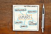 stock photo of goal setting  - SMART  - JPG