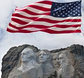 stock photo of mount rushmore national memorial  - Mount Rushmore - JPG