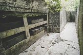 Abandoned Ammunition Box At Cannon Cove On Cat Ba Island, Lan Ha Bay Ha Long Bay Left Over From The  poster