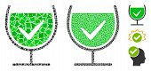 True Drink Glass Icon Mosaic Of Irregular Items In Various Sizes And Color Tinges, Based On True Dri poster