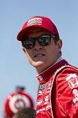 Ft WORTH, TX - JUN 08:  Scott Dixon (9) prepares to qualify for the Firestone 550 race at the Texas
