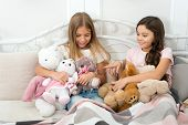 Best Friends Forever. Adorable Friends Play With Toys. Small Friends Enjoy Friendship. Little Friend poster