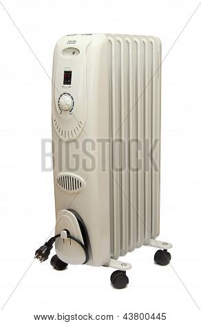 Oilly Electric Heater Isolated On White Background