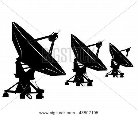 Three Radio Telescopes