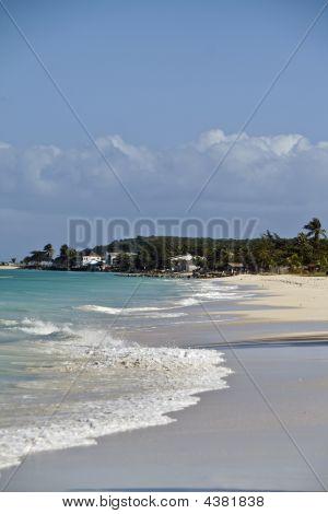 Beach In Antigua Devoid Of People