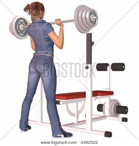 Girl On Weights