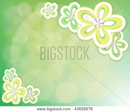 Illustration of a flowery background