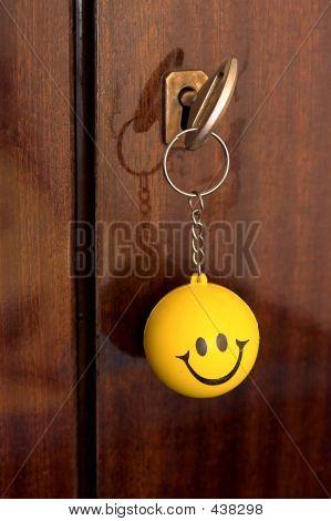 Happy Key Ring
