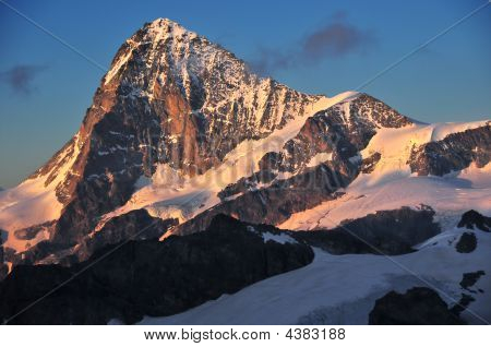 Dent Blanche At Sunset