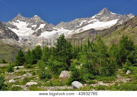 Beautiful mountain Ober Gabelhorn and Zinalrothorn - Swiss alps