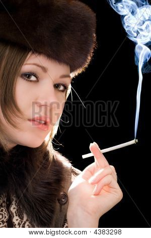 Portrait Of The Young Woman With A Cigarette