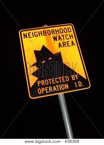 Night Sign Neighborhood Watch