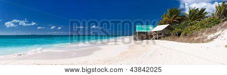 Panorama of a beautiful beach at Anguilla