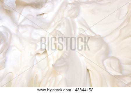 White texture of whipped cream