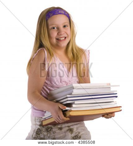 Girl Carrying Books
