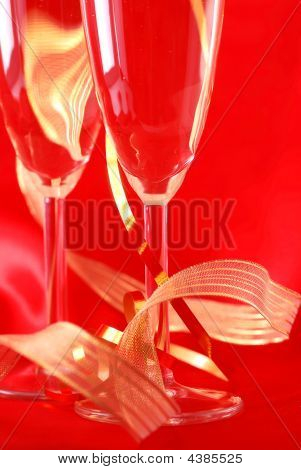 Champagne Glasses Ribbons