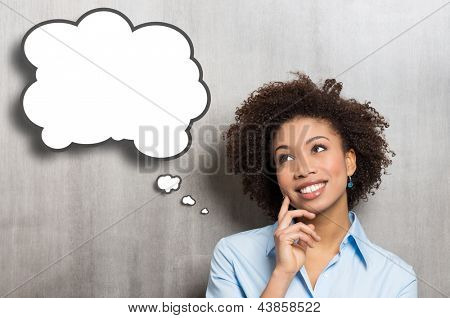 Portrait Of Pensive Business Young Woman