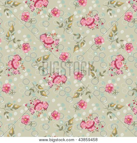 Vectores y fotos en stock de Flores vintage de patrones sin ...