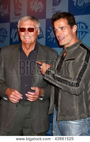 LOS ANGELES - MAR 21:  Adam West, Antonio Sabato Jr arrive at the Batman Product Line Launch at the Meltdown Comics on March 21, 2013 in Los Angeles, CA