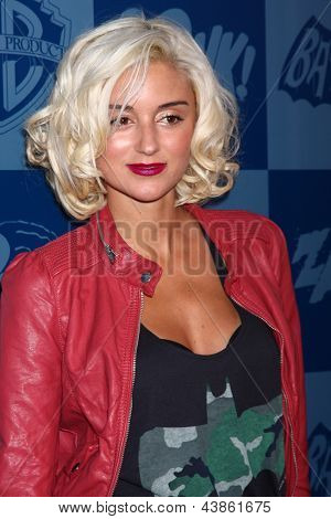 LOS ANGELES - MAR 21:  Caroline D'Amore arrives at the Batman Product Line Launch at the Meltdown Comics on March 21, 2013 in Los Angeles, CA