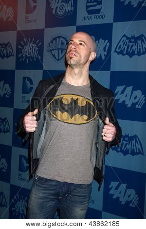 LOS ANGELES - MAR 21:  Chris Daughtry arrives at the Batman Product Line Launch at the Meltdown Comics on March 21, 2013 in Los Angeles, CA