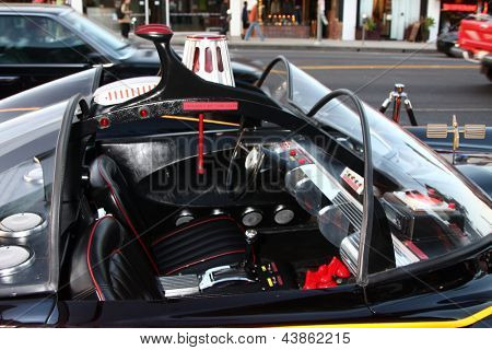 LOS ANGELES - MAR 21:  Batmobile arrives at the Batman Product Line Launch at the Meltdown Comics on March 21, 2013 in Los Angeles, CA