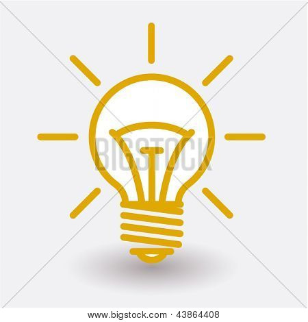 Electric bulb stylized vector draft.
