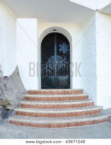 Entrance of apartment building in Puerto Vallarta, Mexico.
